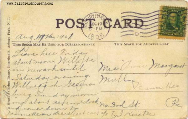 Asbury Park NJ Postcard