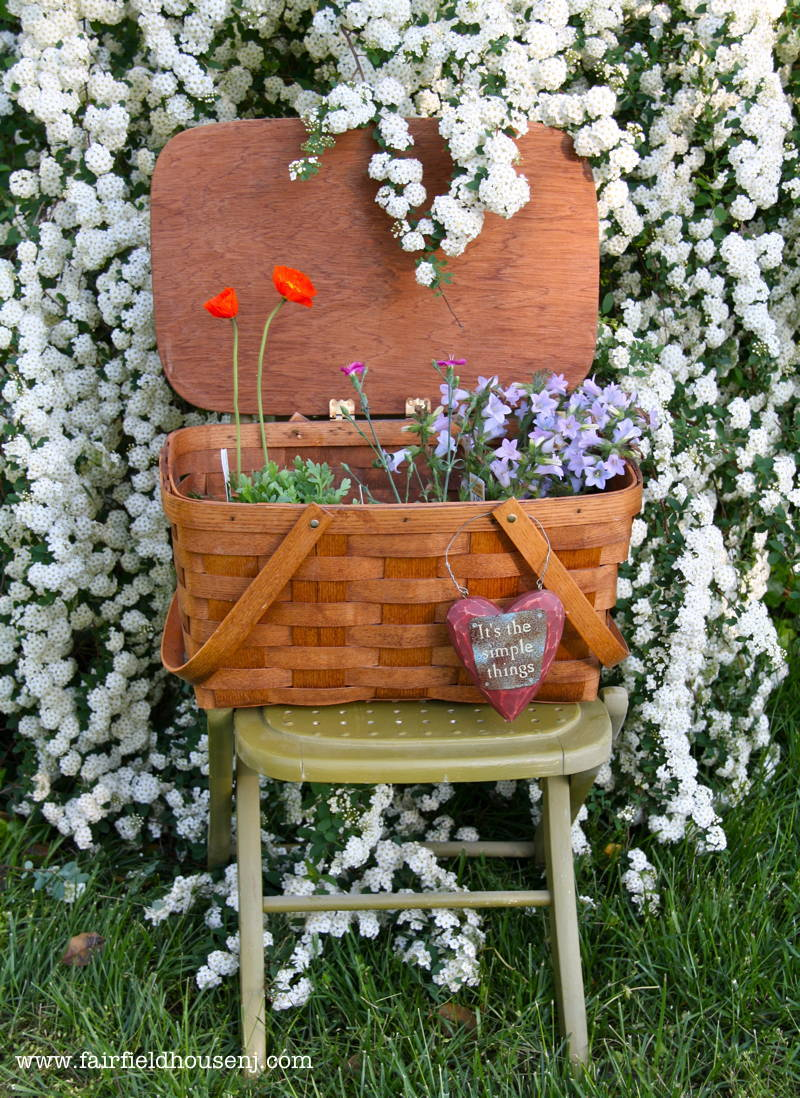 Basket and Flowers